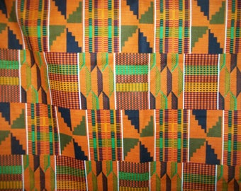 "Fat Quarter Kente print African fabric 18""x22"" Craft fabric/ African prints/ kente cloth fabrics/ Kente #2"