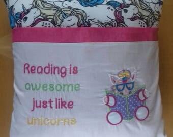 Reading Book Cushion..Unicorn
