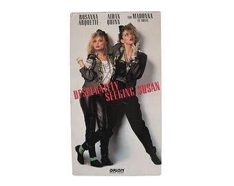 Desperately Seeking Susan VHS 80s Madonna Comedy Vintage Movie Video
