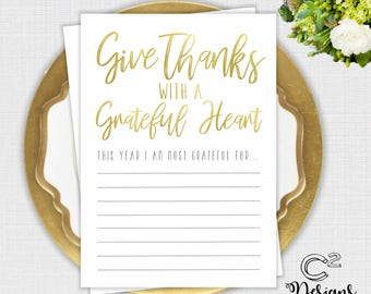 INSTANT DOWNLOAD:  Give Thanks Activity Card - Thanksgiving
