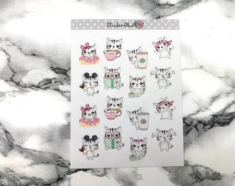 Kitty Mixed Planner Sticker C009