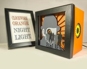 Clockwork orange night light, Special night light, geek night light, kubrick gift, unique special gift, home decor, birthday gift