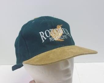 Rotunda New Zealand leather bill camp hat
