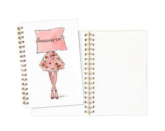 Personalized Spiral Notebook: Sign Girl