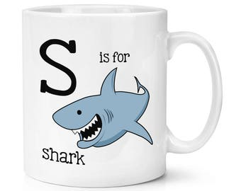 Letter S Is For Shark 10oz Mug Cup