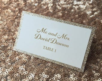 Glitter Place Cards SAMPLE for Serena Jensen