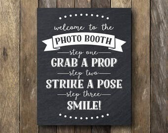 11x14 Photo Booth Printable - Instant Download Photo Booth Sign