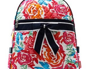 Quilted Flower Garden Backpack with free monogram