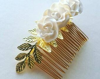 SALE LAST ONE! Bridal flower hair comb