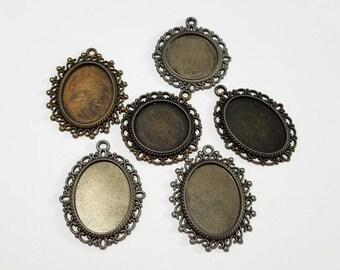 Bezel, Pendant, Blank, Lot, Antique Brass, Bronze, Antique Silver, Steampunk, Mixed Media, Jewelry, Beading, Supply, Supplies