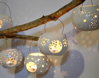 Ceramic lantern, Candle Luminary, Essential Oil Diffuser