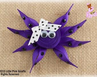 Lil' Poppet™ Octavia Inkley, Octopus Ribbon Sculpture Hair Clip or Brooch Pin