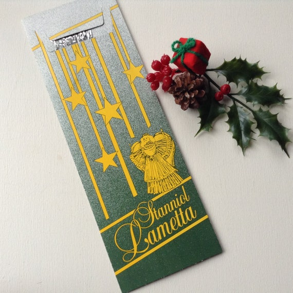 Vintage German Tinsel Stanniol Lametta, silver tinfoil icicles for your Christmas tree