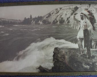 Framed Hand Colored Photograph by Herman Schnitzmeyer circa 1915