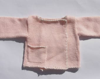 Pink Cashmere and Merino sweater baby 3 months