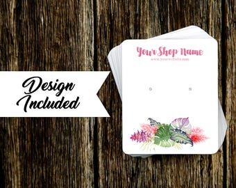 Jewelry Display Cards | Earring Cards | Necklace Cards | Tropical Floral