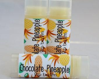 Chocolate Pineapple - Lip Balm - Chocolate - Pineapple - Chapstick - Lip Moisturizer - Organic Lip Balm - Pineapple Lip Balm