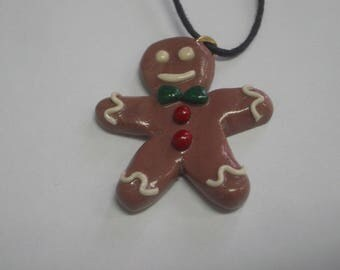 FANCY PENDANT P' GINGY FIMO