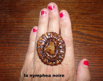 steampunk style large ring