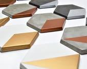 Set of 6 modern concrete coasters | geometric Coasters | wedding gift | cement coasters | housewarming gift | gift architect | minimalist