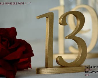 Table Numbers for Wedding, Gold Table Numbers, Centerpiece Gold, Table Numbers