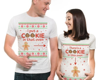 Christmas Maternity T-Shirts Baby Announcement Christmas Shirt Christmas Pregnancy Announcement