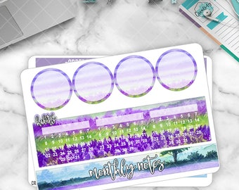 April Monthly Note Pages Sticker Set for Larger Size Planners - MN04