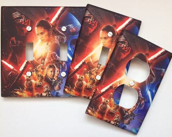 Star Wars light switch plate cover // The Force Awakens // **SAME DAY SHIPPING
