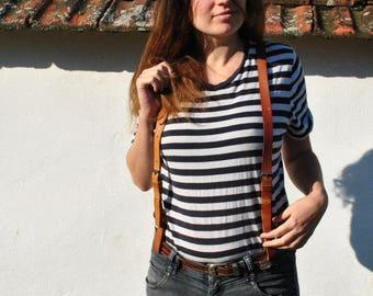 Leather suspenders, leather suspenders women, leather suspenders men, vintage leather suspenders, brown leather suspenders,leather suspender