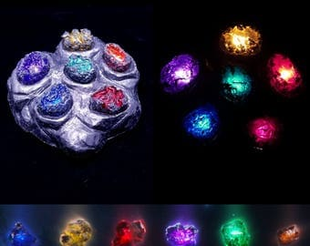 Unrefined Infinity Stones (Complete Set of 6) ***WITH DISPLAY***