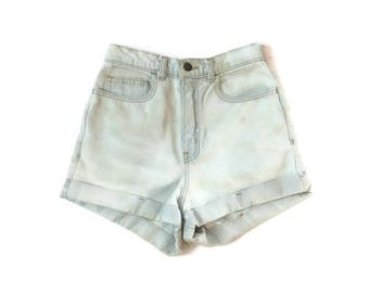 Vintage Light Denim High Waist Shorts
