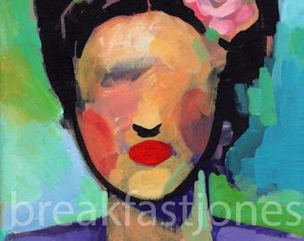 "Abstract Frda Digital Art Print, Frida Kahlo Illustration, Frida print ,8"" x 10"" print, Gift for Frida Kahlo Fan, Frida Art Print"