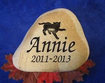 Custom Engraved Cat Memorial Stones/Rocks