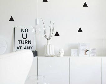 Kids Wall Decal Triangles Wall Stickers Nursery Baby Room Decoration Wall Art Wall Decal