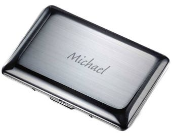 Personalized Business Card Case, Stainless Steel Business Card Case, Engraved Business card Holder, Corporate Gifts, Laser Engraved • V502B
