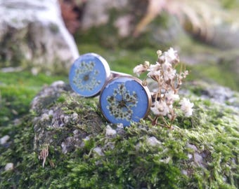 Flower Resin Ring - Pressed Flower Ring - Real Flower Jewelry - Flower Resin Jewelry - Dainty Ring - Gift For Her - Queen Anne Lace - Tiny