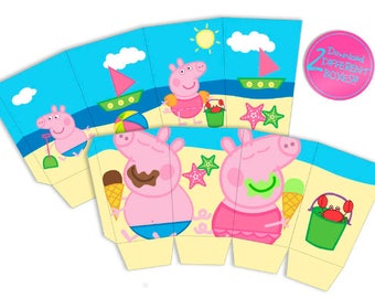 Peppa Pig summer - Popcorn box
