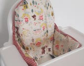 Antilop IKEA highchair cushion cover - cushion cover only - goldilocks and the three bears high chair fabric cushion cover - MADE to ORDER