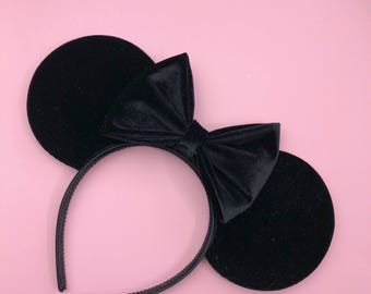 Black Velvet Mouse Ears