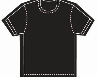 150 T shirt Shape Die cut Business Cards, Custom Shape Business Cards, Unique Business Cards