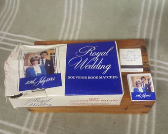 1981 Vintage Royal Wedding Matches. Commemorative. Charles and Diana.