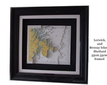 3D Nautical chart / map of Part of the Shetland Islands Lerwick and Bressay Island