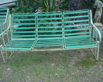 Vintage Metal Patio Furniture Etsy - Turquoise outdoor furniture