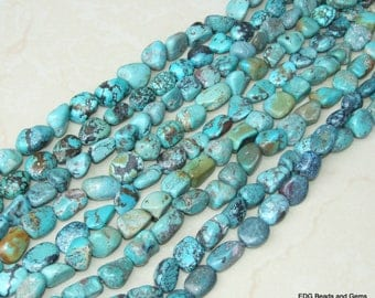 Genuine Natural Turquoise Nuggets. - Turquoise Beads - Real Turquoise - Turquoise Stones.  15 - 20mm - 16 inch Strand - NT2041