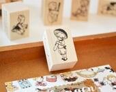 Mushroom Umbrella/ Original Rubber Stamp / Designed by Krimgen