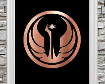 "New 8""x10"" Foil Art! Republic Emblem / Symbol - Ready to Frame"
