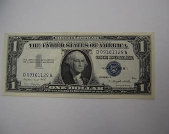 One   Dollar Silver Certificate-1957A-- Blue Seal- uncirculated-No Paper Rips-vf+++++