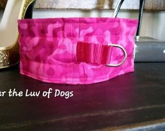 "Sweetness Collar, Choker, ""Pink Camo""  Sweetness Dog Collar Kindness Choke Collar"