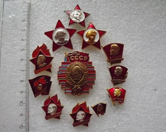 Vintage soviet badge medal (icon, pin)  Lenin USSR 1970s