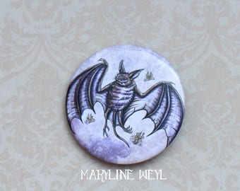 bat pin badge